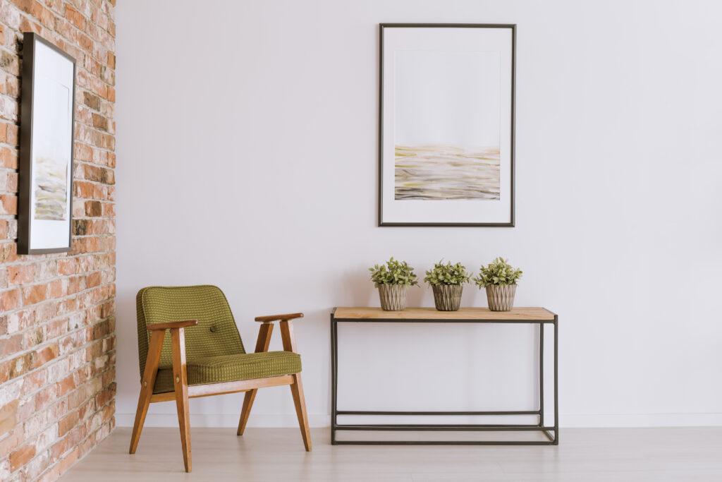 Framed print wall art decor entrance way styling design interior hallway blog how-to