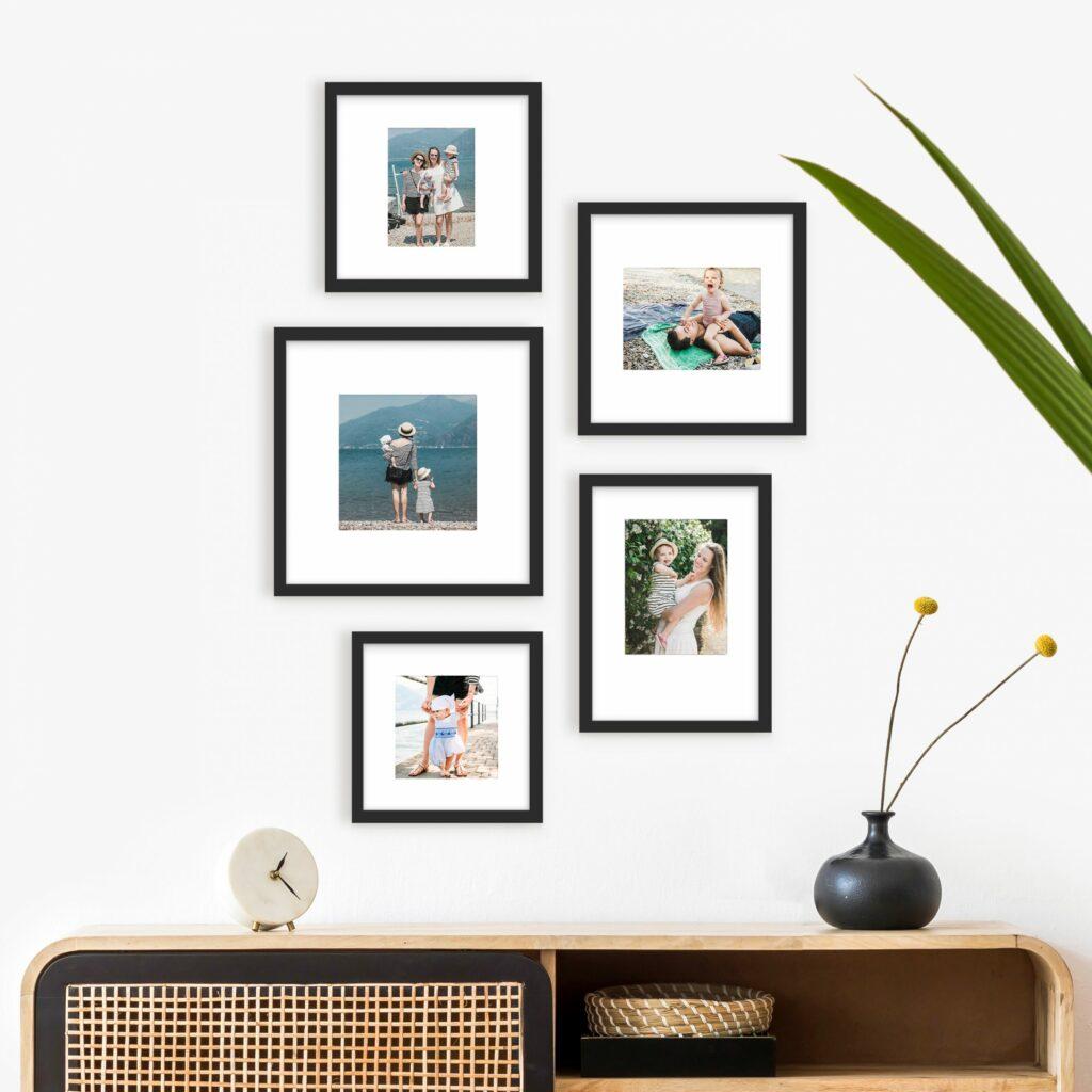 mismatch gallery wall black frame