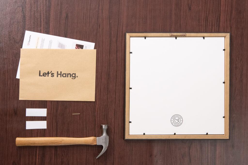 Hanging frame guide how-to framing wall art frames framefox hardware