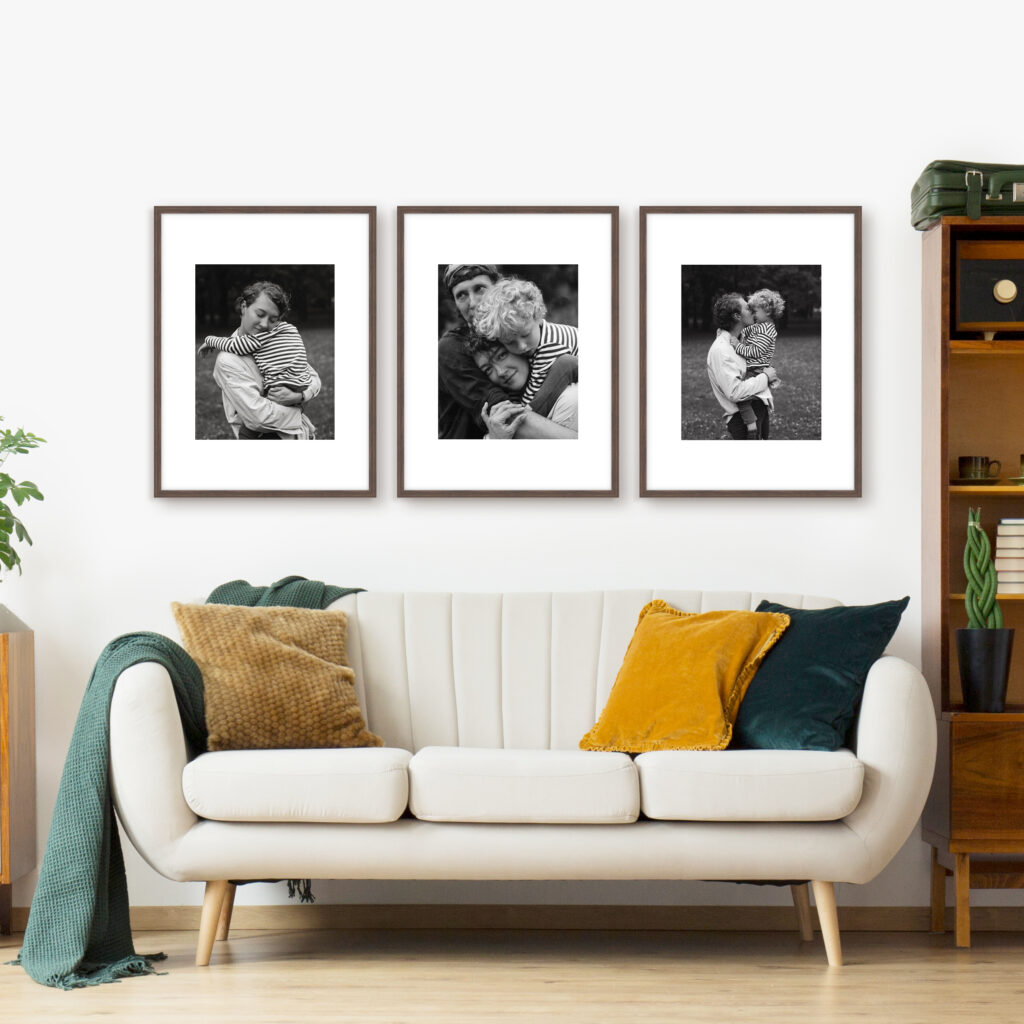 Triptych Print and Frame Family Photo