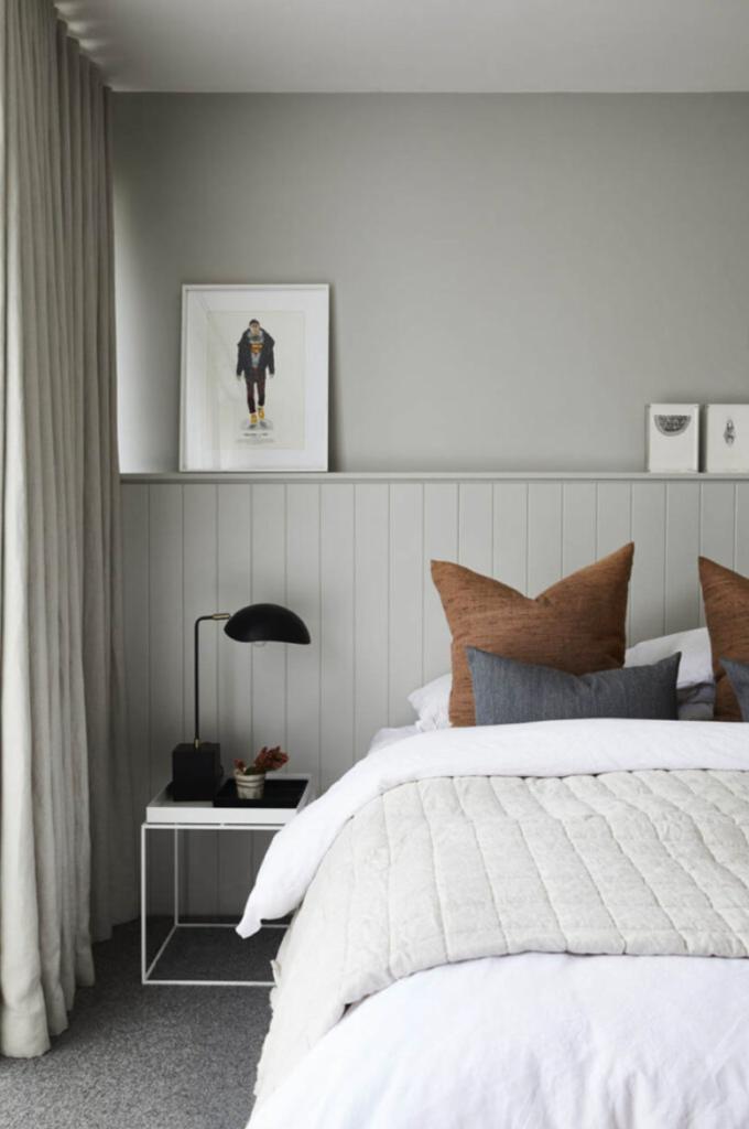 Bedroom wall art ledge frames