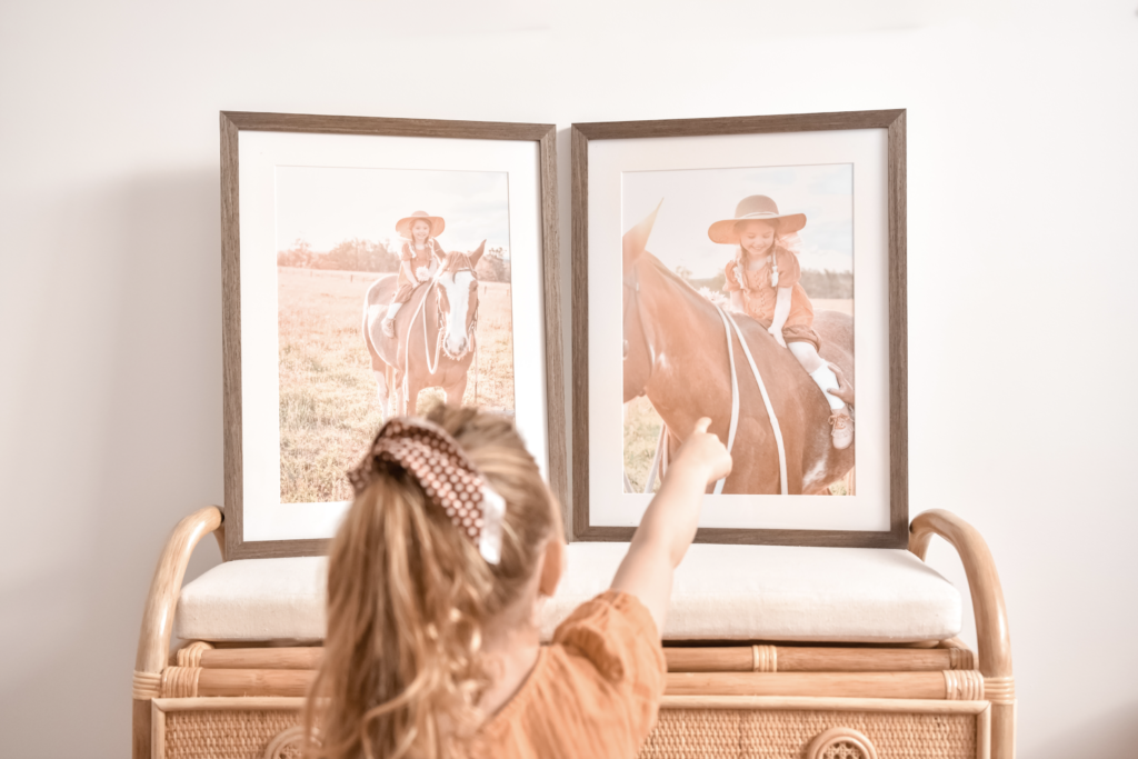 family photo print and frame