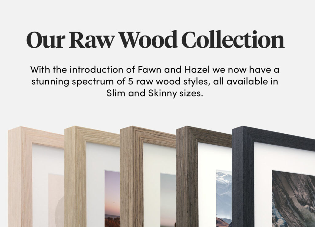 Raw Wood frames framing oak timber
